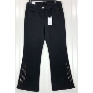 3x1 NYC Cole Studded Crop Bell Bottom Jeans 8240